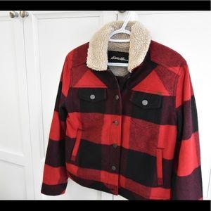 Eddie Bauer Sherpa Plaid Jacket